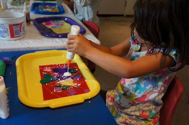 Felt Collage, Carrots and Sensory Activities
