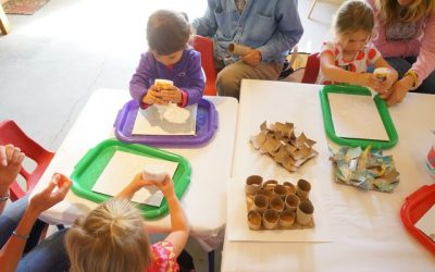 Paper Roll Sculpture and Flubber