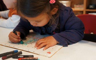 Pegboard Art and Paper Mache