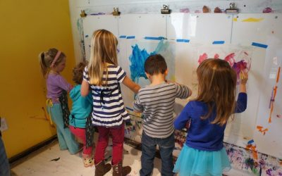 Collaboration III: Painting on Maps & Mask Making