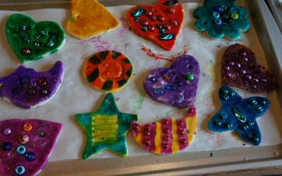 Holiday Gift Making II: Salt Dough Ornaments and Montotype Prints