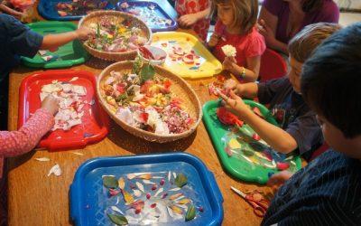 Celebrating Spring: Flower Suncatchers and Painted Eggcartons