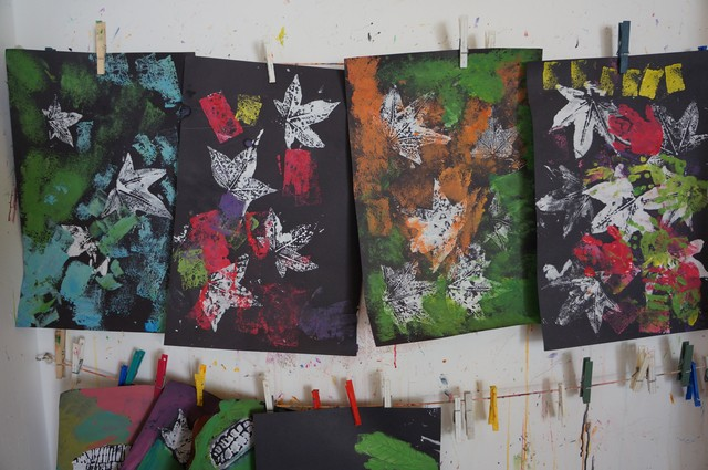 Printmaking: A Breeze with Leaves
